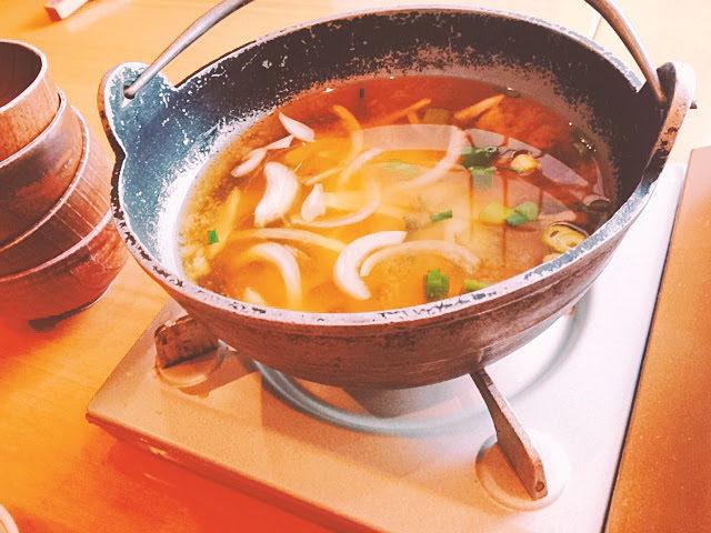 花伝抄朝ご飯 お味噌汁