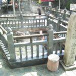 湯村温泉の荒湯、足湯