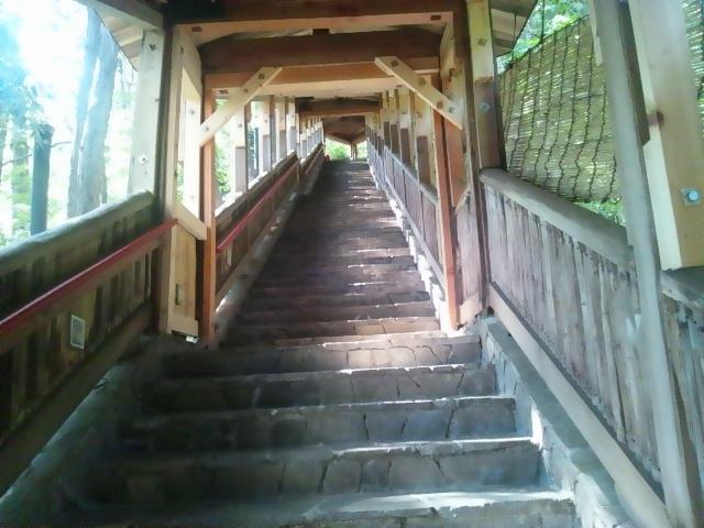 三好屋の露天風呂への階段
