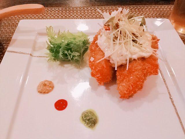 揚げ物(牡蠣フライ)
