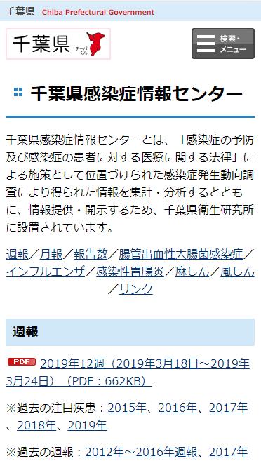 千葉県感染症情報センター