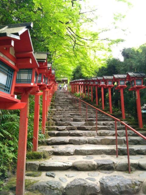 貴船神社の階段