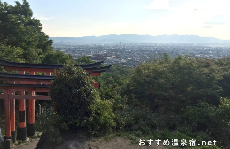 千本鳥居をずっと登っていくと見える景色